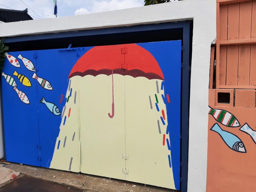 노의웅 미술관 강진군 동성리에서 벽화그리기 작업완료했습니다.