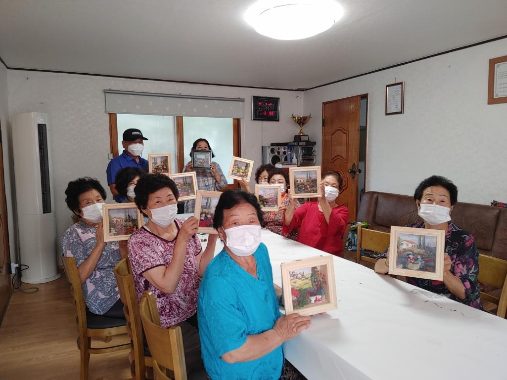 전북 고창군 부안면 연기마을의 조명 액자 만들기
