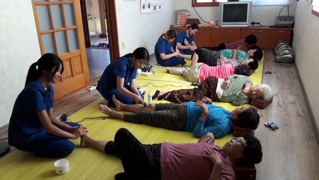 2017년 9월 28일 장안마을 여주대학교 뉴-실버 농촌재능나눔 활동